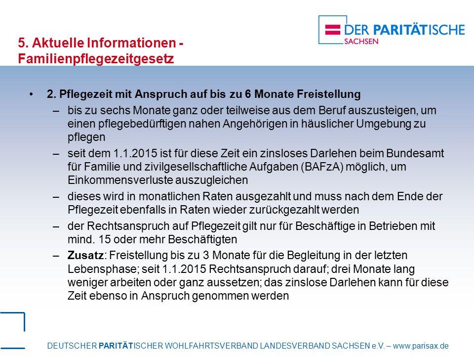 5. Aktuelle Informationen -Familienpflegezeitgesetz
