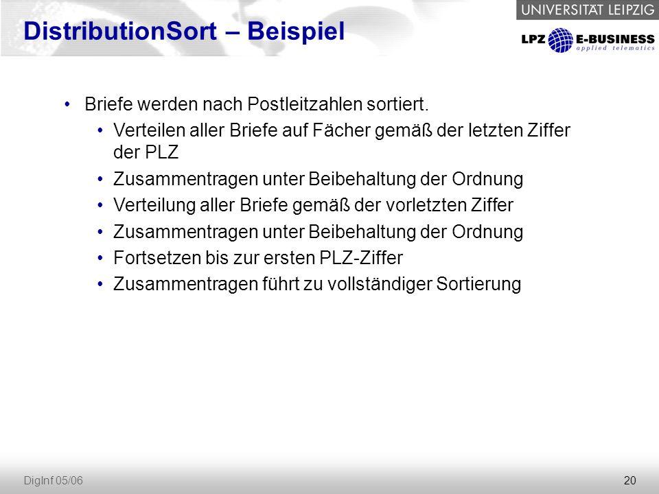 DistributionSort – Beispiel