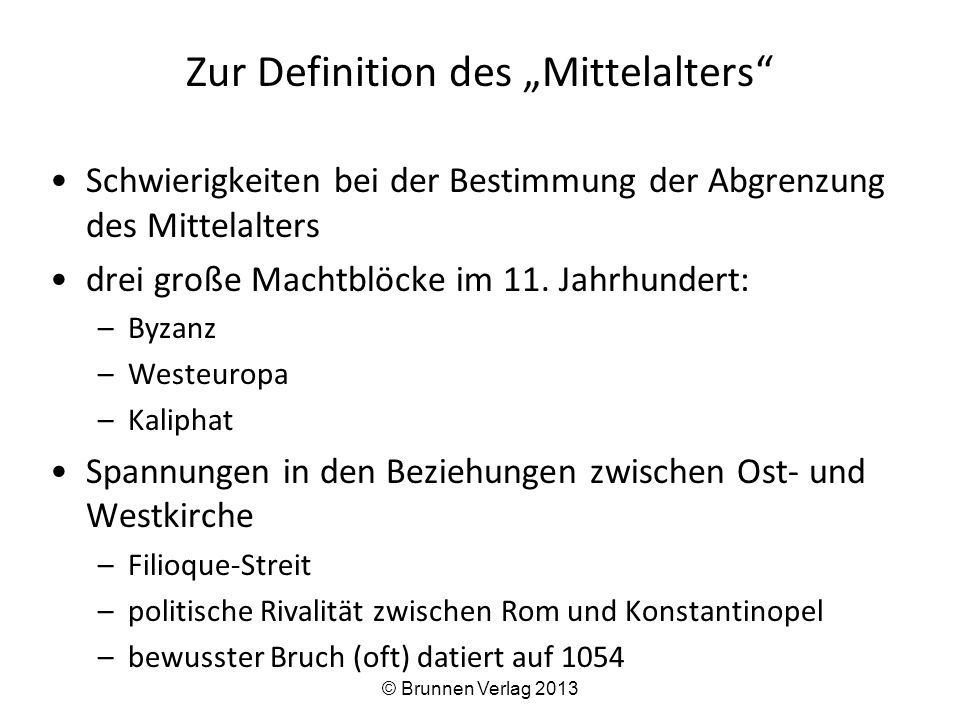 """Zur Definition des """"Mittelalters"""