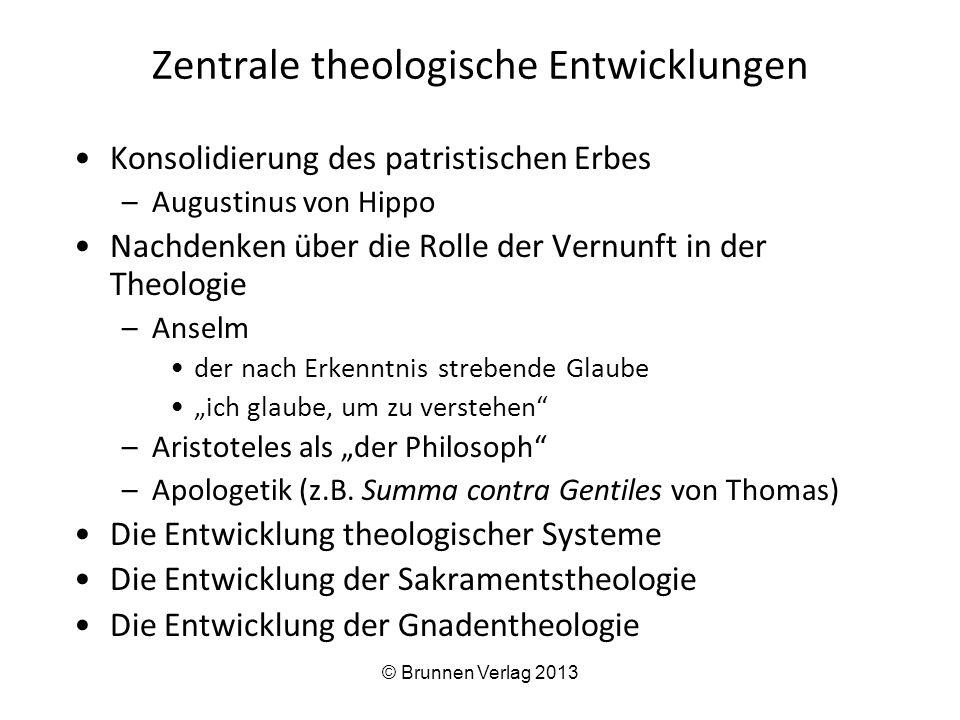 Zentrale theologische Entwicklungen