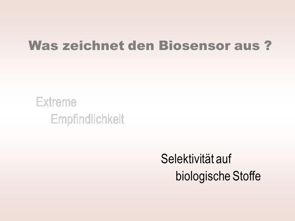 Was zeichnet den Biosensor aus