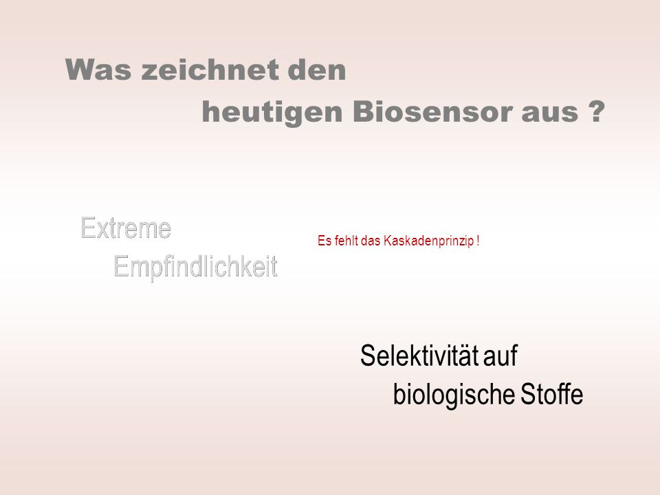 heutigen Biosensor aus