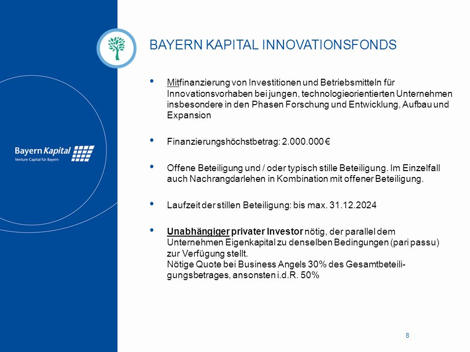 BAYERN KAPITAL INNOVATIONSFONDS