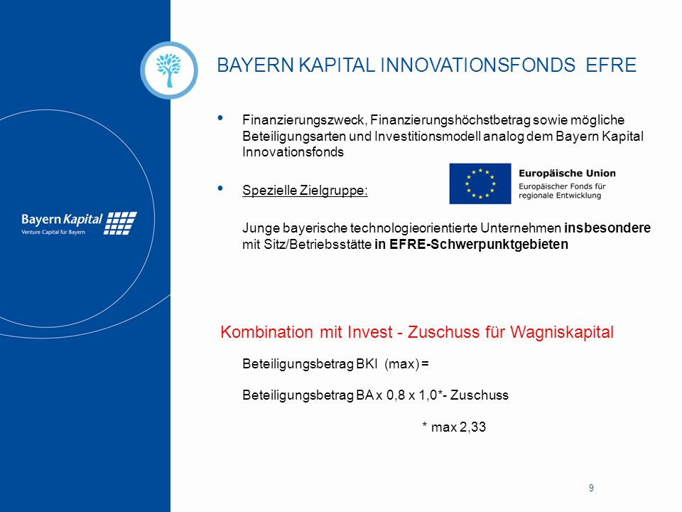 BAYERN KAPITAL INNOVATIONSFONDS EFRE