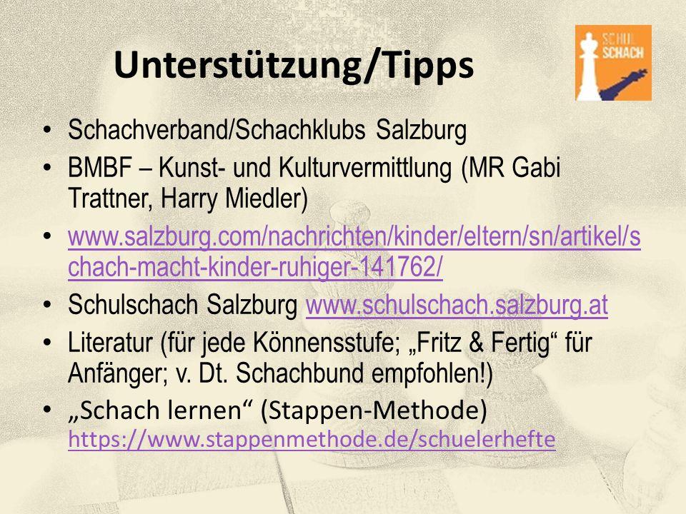 Unterstützung/Tipps Schachverband/Schachklubs Salzburg