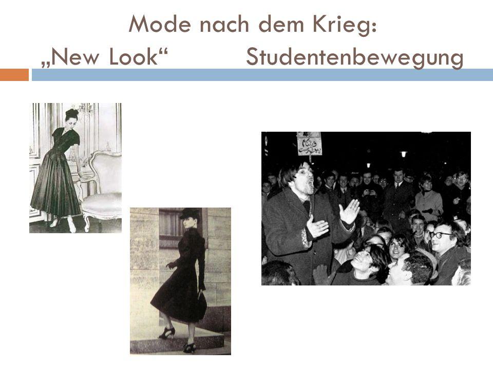 """Mode nach dem Krieg: """"New Look Studentenbewegung"""