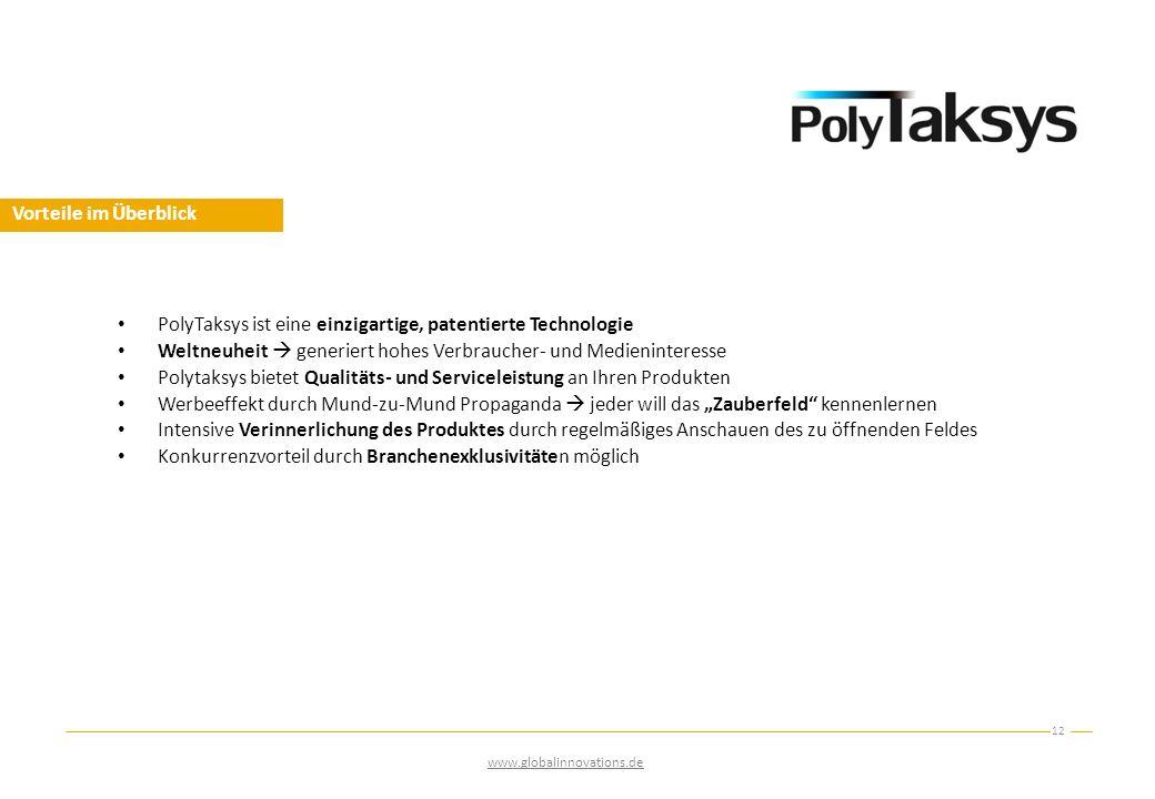PolyTaksys ist eine einzigartige, patentierte Technologie