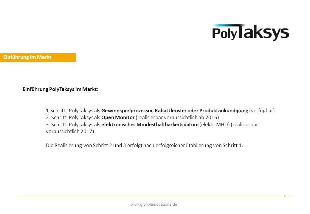 Einführung PolyTaksys im Markt: