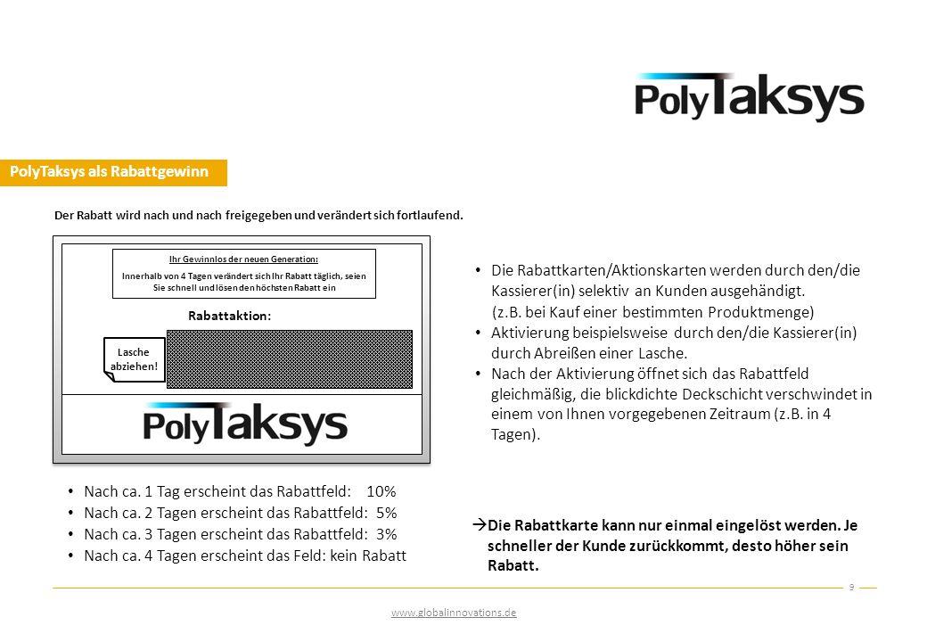 PolyTaksys als Rabattgewinn