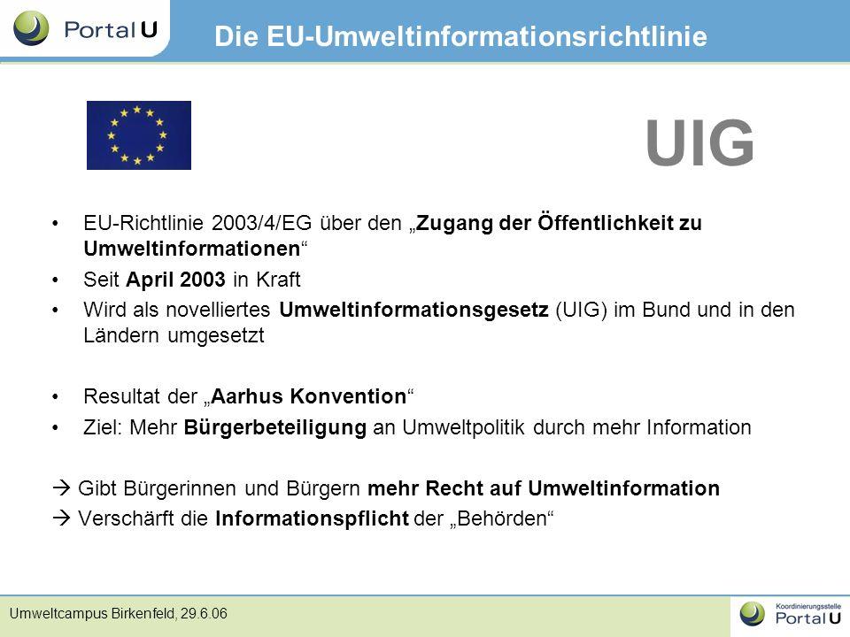 Die EU-Umweltinformationsrichtlinie