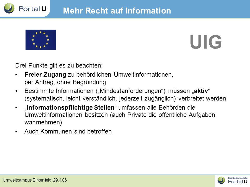Mehr Recht auf Information