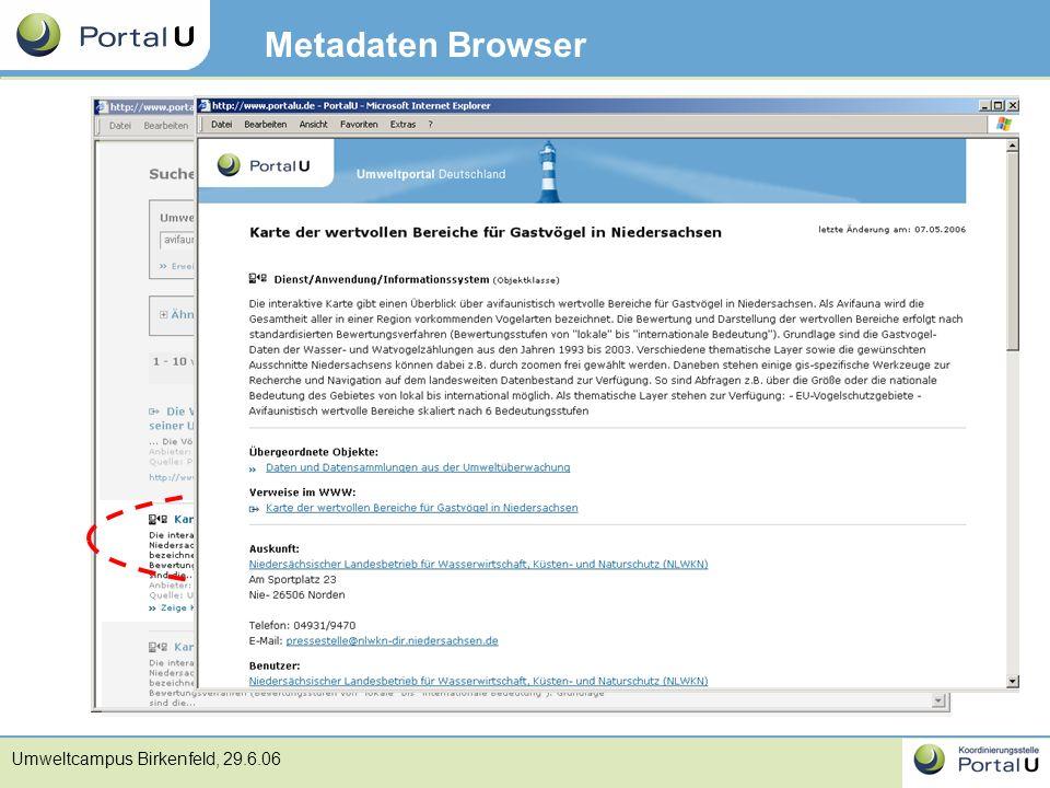 Metadaten Browser