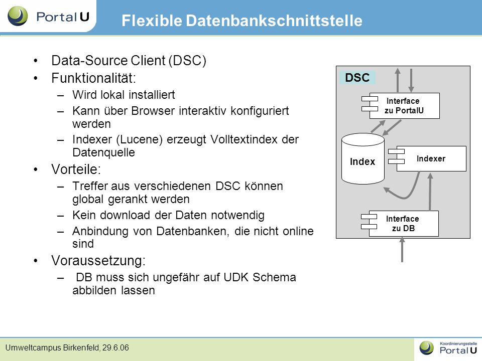 Flexible Datenbankschnittstelle