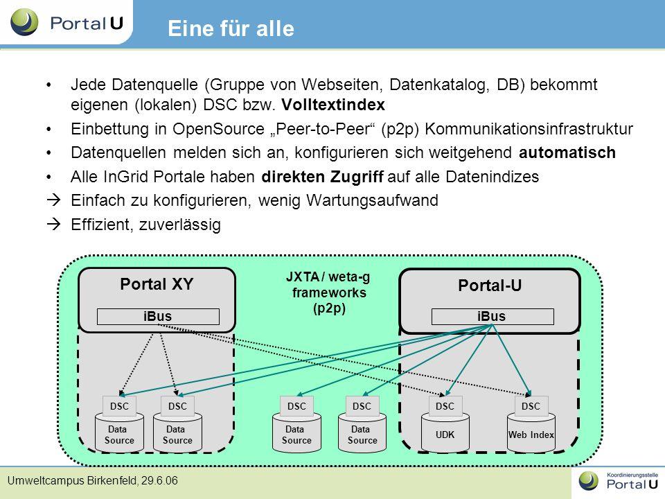 JXTA / weta-g frameworks
