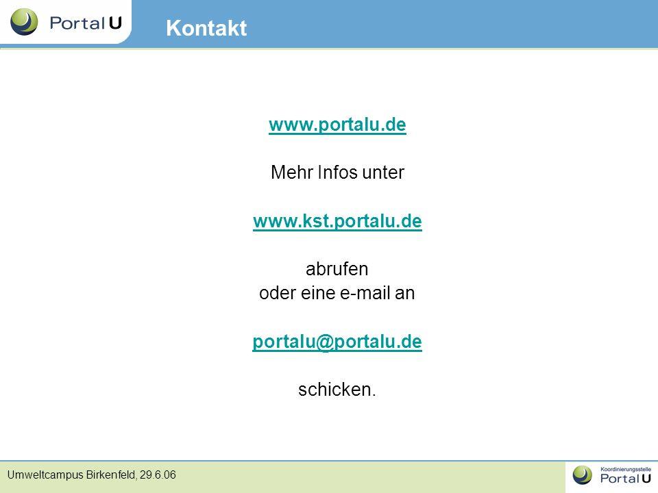 Kontakt www.portalu.de Mehr Infos unter www.kst.portalu.de abrufen