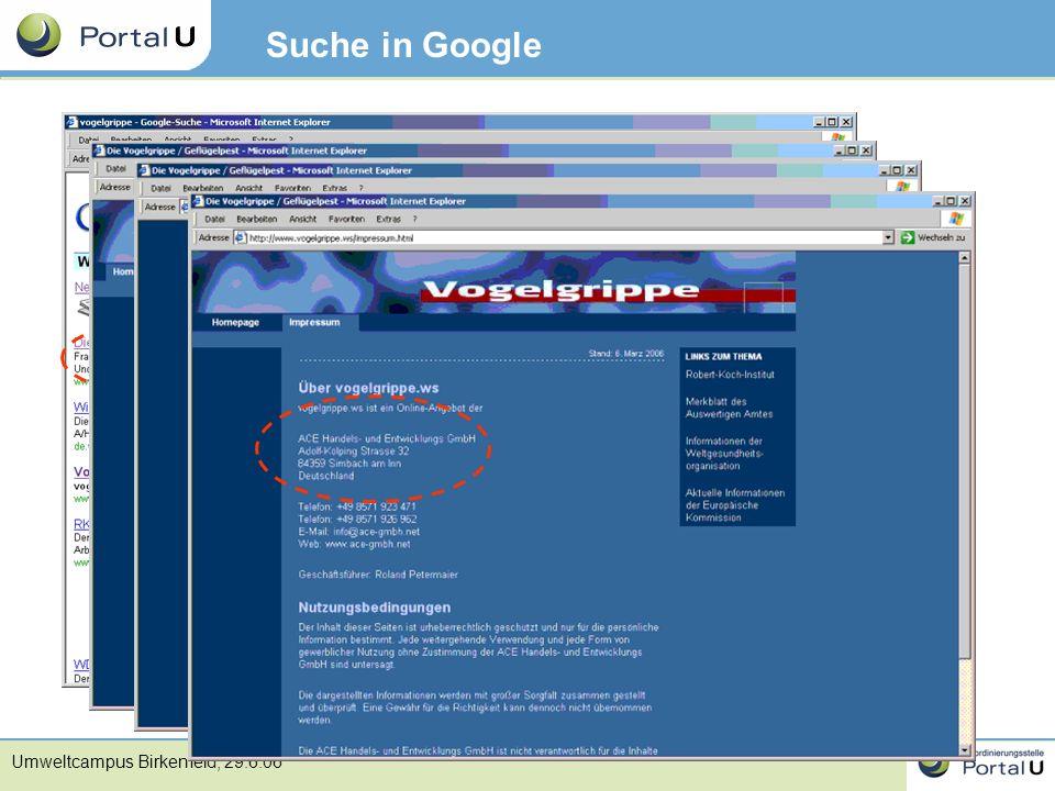Suche in Google