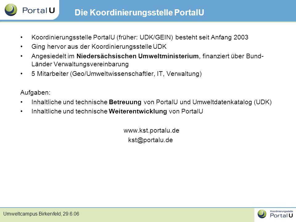 Die Koordinierungsstelle PortalU