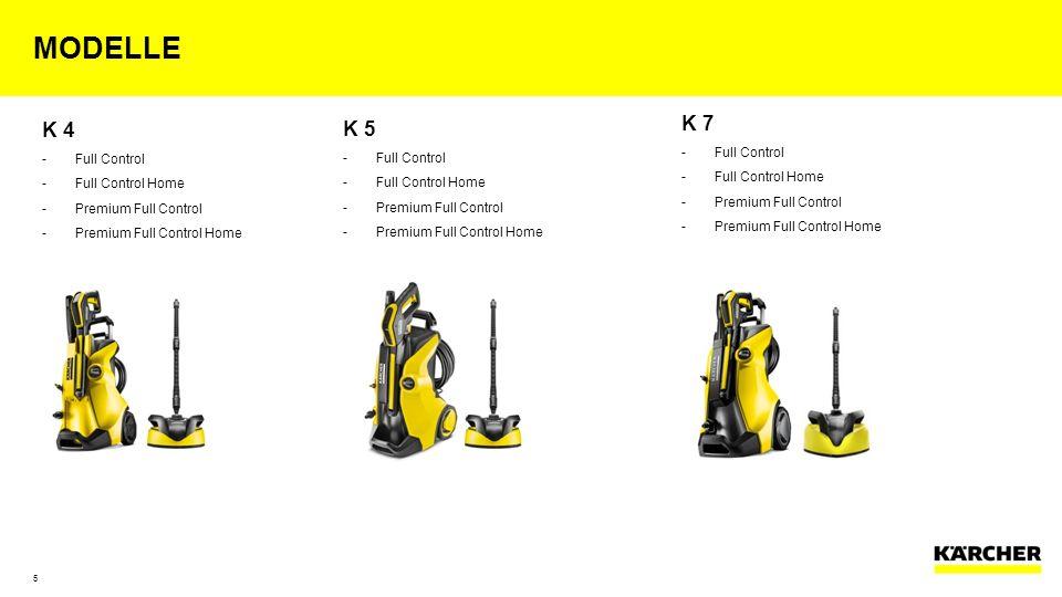 modelle K 4 K 5 K 7 Full Control Full Control Home
