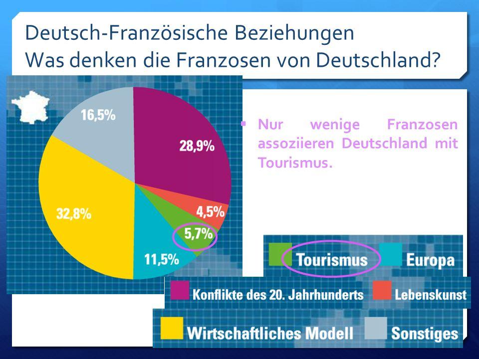 Deutsch-Französische Beziehungen Was denken die Franzosen von Deutschland