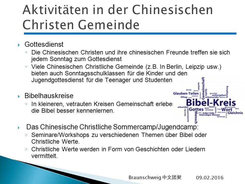 Aktivitäten in der Chinesischen Christen Gemeinde