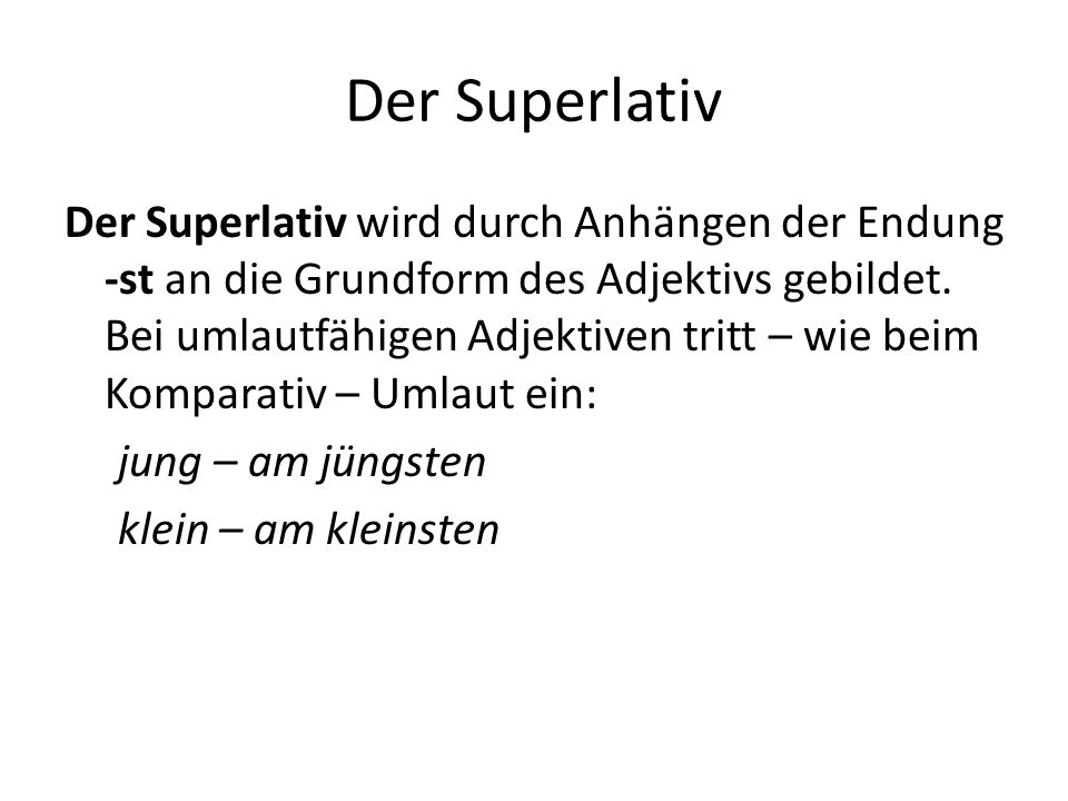 Der Superlativ