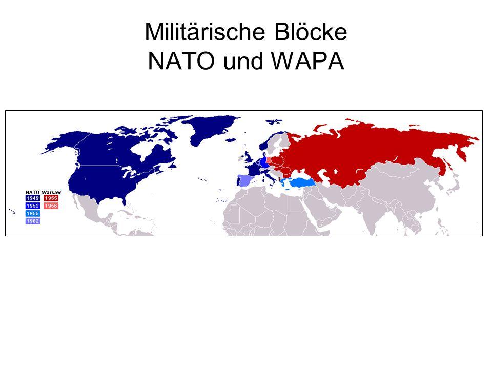 Militärische Blöcke NATO und WAPA