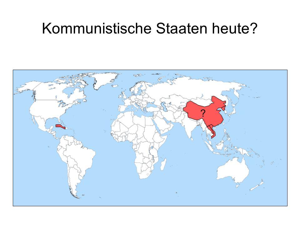 Kommunistische Staaten heute