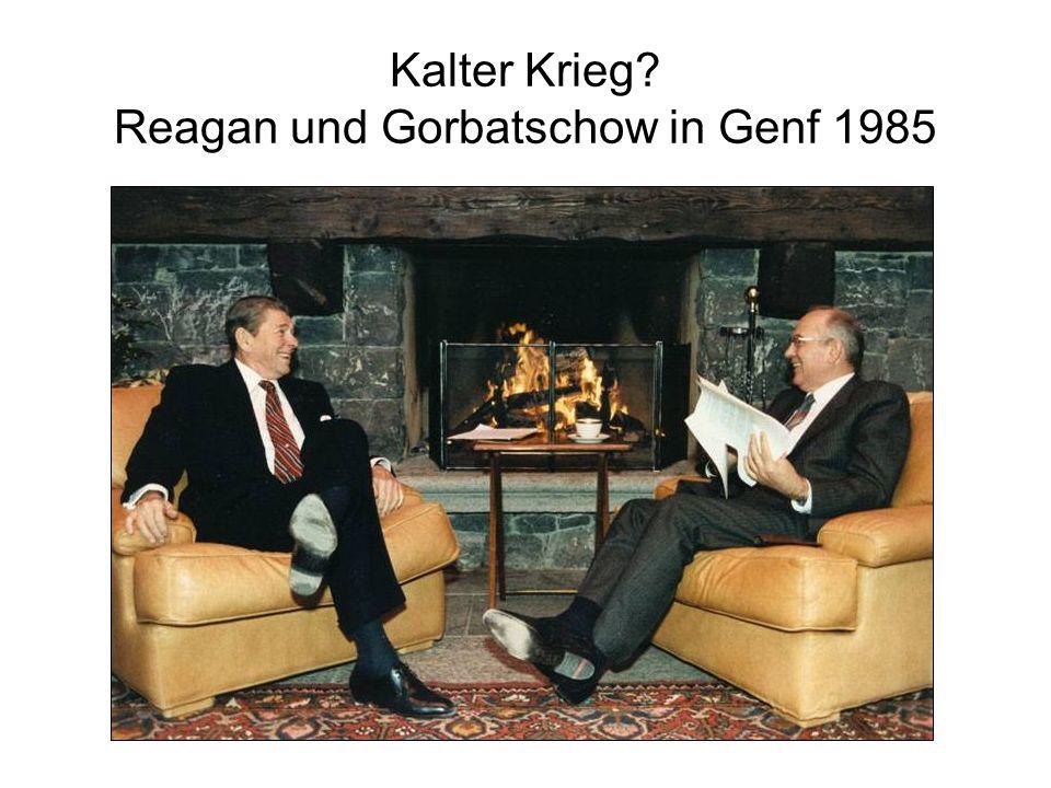 Kalter Krieg Reagan und Gorbatschow in Genf 1985