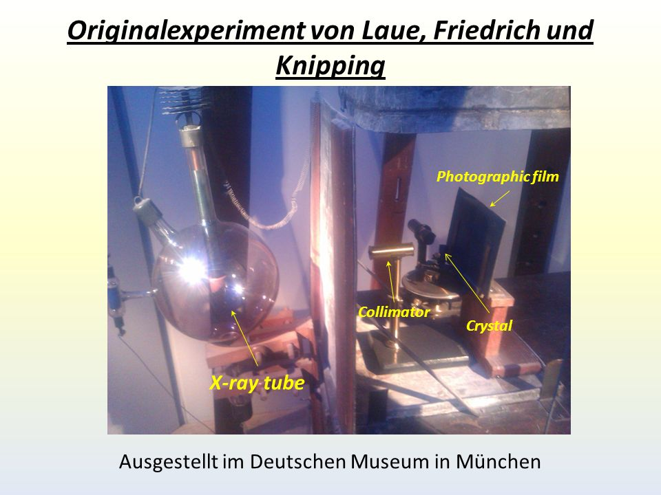 Originalexperiment von Laue, Friedrich und Knipping
