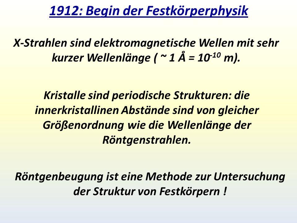 1912: Begin der Festkörperphysik