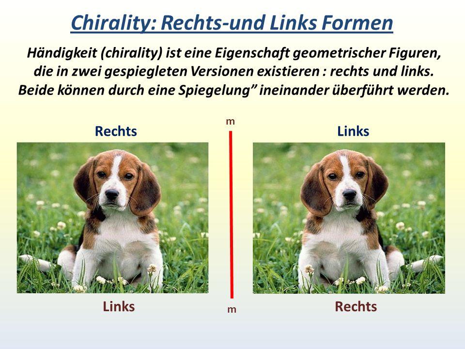 Chirality: Rechts-und Links Formen