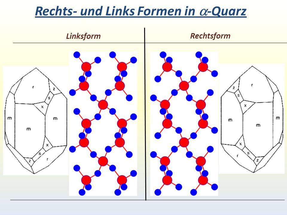 Rechts- und Links Formen in a-Quarz