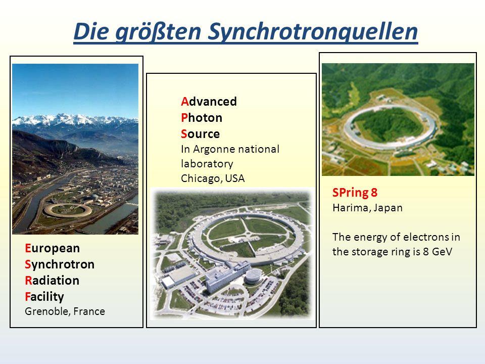 Die größten Synchrotronquellen