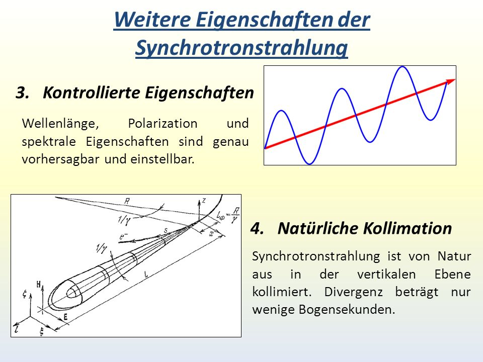 Weitere Eigenschaften der Synchrotronstrahlung