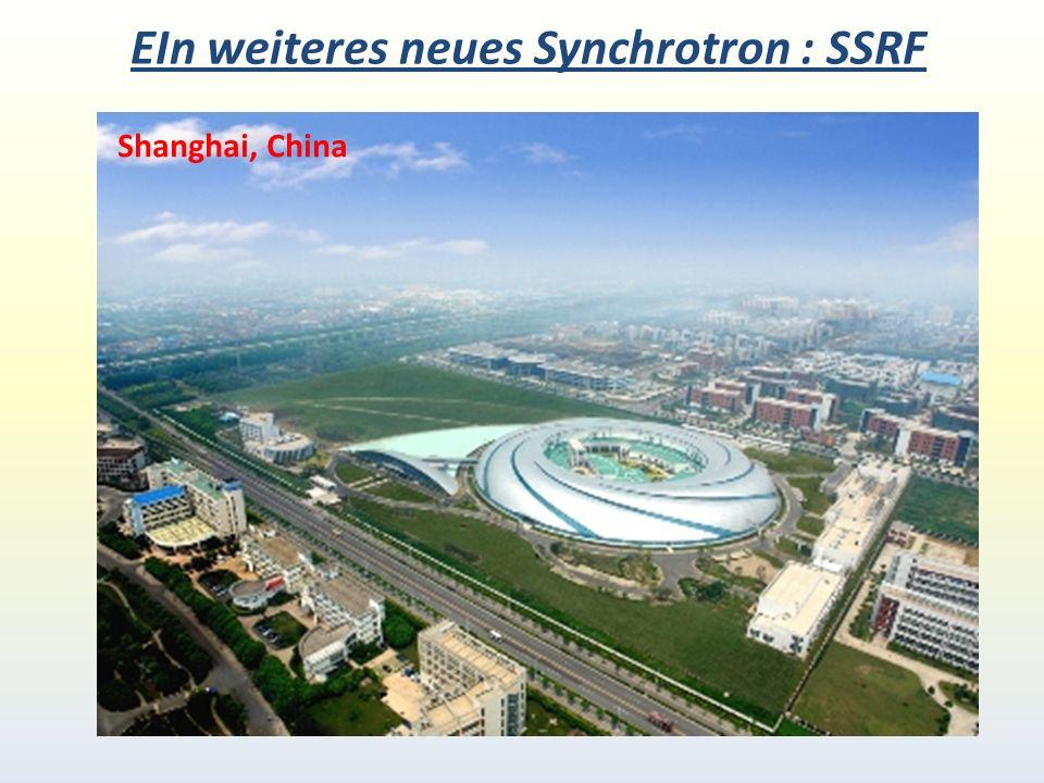 EIn weiteres neues Synchrotron : SSRF