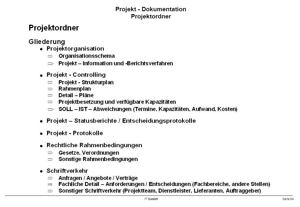 Projekt - Dokumentation Projektordner
