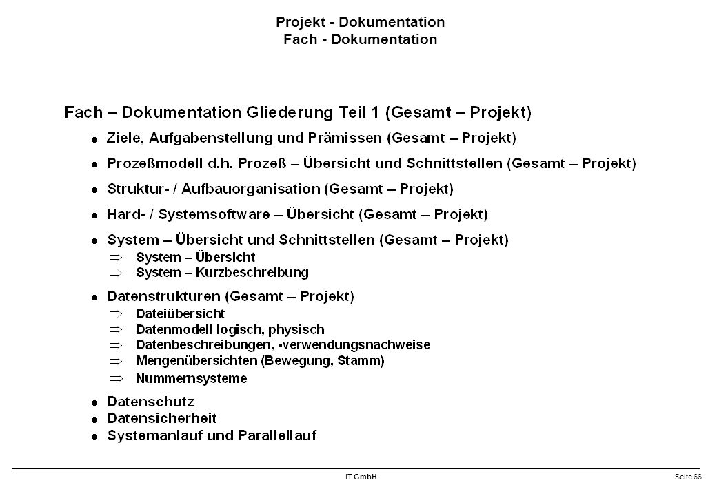 Projekt - Dokumentation Fach - Dokumentation