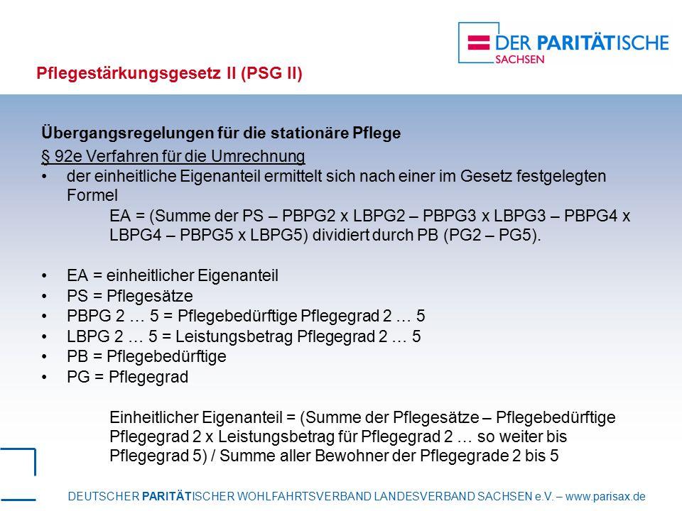 Pflegestärkungsgesetz II (PSG II)