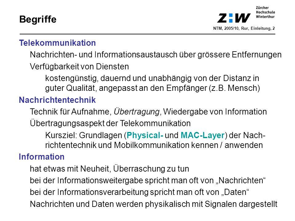 Begriffe Telekommunikation