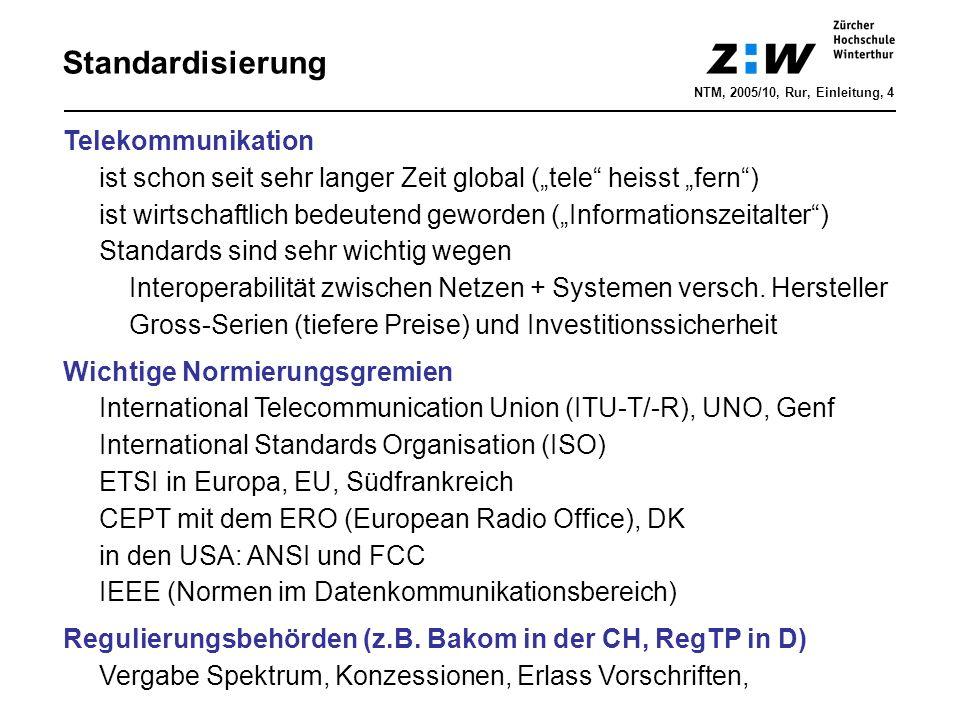 Standardisierung Telekommunikation