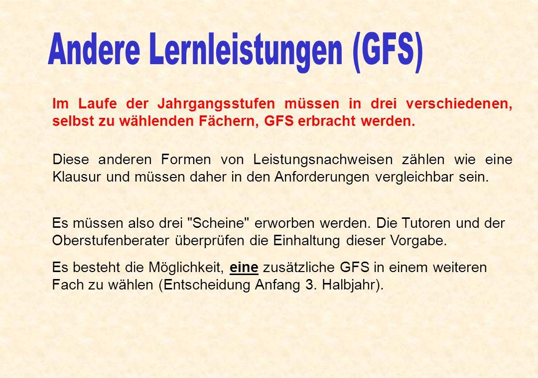 Andere Lernleistungen (GFS)