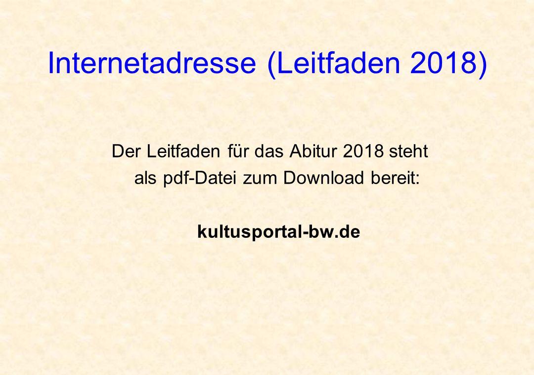 Internetadresse (Leitfaden 2018)