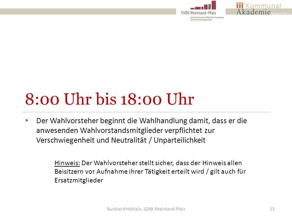 Burkhard Höhlein, GStB Rheinland-Pfalz