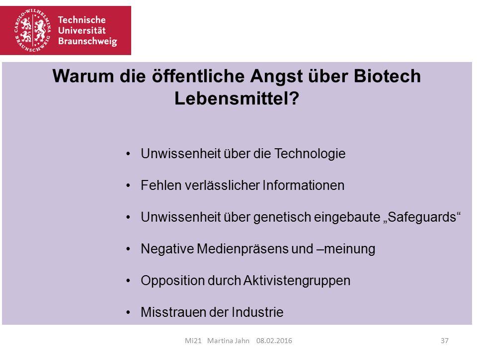 Warum die öffentliche Angst über Biotech Lebensmittel