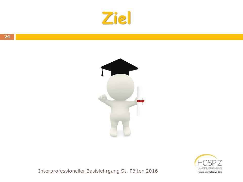 Ziel Interprofessioneller Basislehrgang St. Pölten 2016