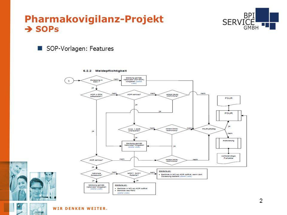 Pharmakovigilanz-Projekt  SOPs