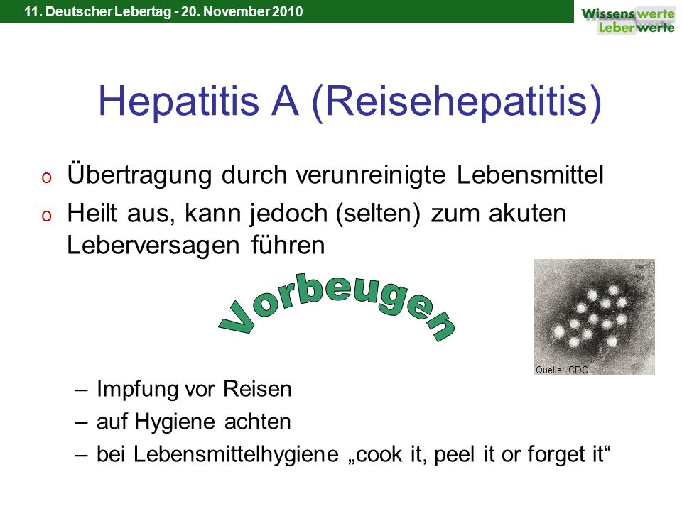 Hepatitis A (Reisehepatitis)