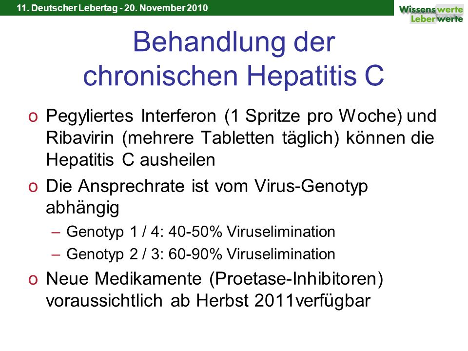 Behandlung der chronischen Hepatitis C