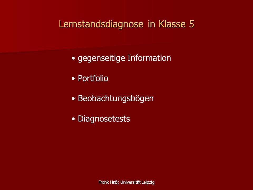 Lernstandsdiagnose in Klasse 5