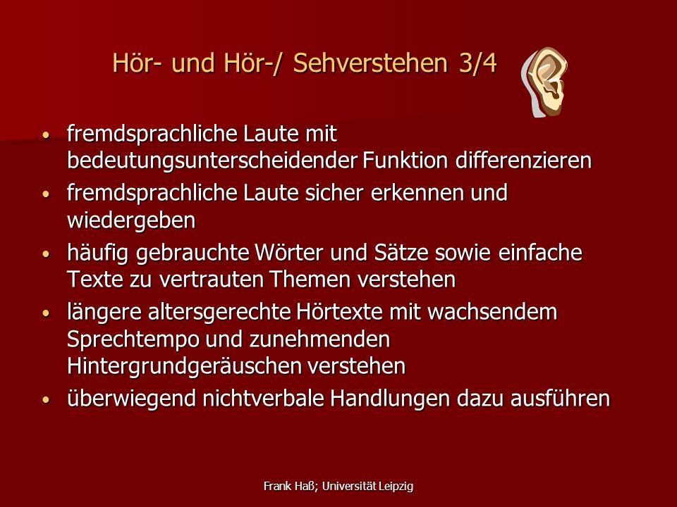 Hör- und Hör-/ Sehverstehen 3/4